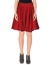 Dolce And Gabbana Skirts Knee Length Skirts Women Red