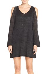 Women's Eci Sequin Cold Shoulder A Line Sweater Dress