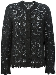Ermanno Scervino Embroidered Lace Blazer Black