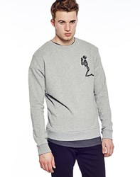 Religion Praying Skeleton Sweatshirt Grey Black