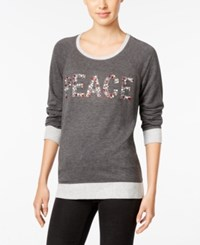 Styleandco. Style Co. Peace Graphic Knit Top Only At Macy's Heather Grey