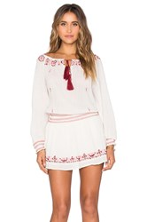 Loveshackfancy Smocked Peasant Dress White