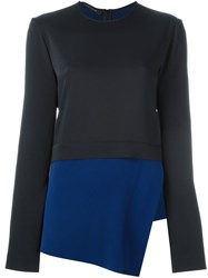 Cedric Charlier Layered Asymmetric Top Blue