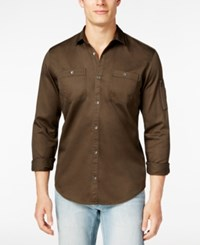 Inc International Concepts Men's Claudius Long Sleeve Shirt Only At Macy's Wren