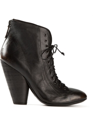 Marsell Chunky Heel Lace Up Boots Black
