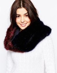 Urbancode Color Block Faux Fur Infinity Scarf Navyoxblood