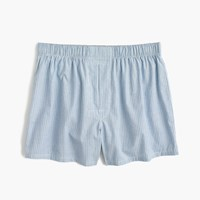 J.Crew Blue Striped End On End Boxers Nile Blue