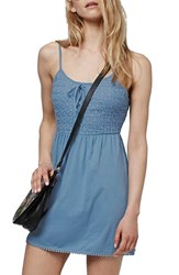 Women's Topshop Crochet Lace Up Sundress