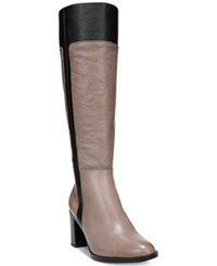 Naturalizer Frances Wide Calf Riding Boots Women's Shoes Taupe Black