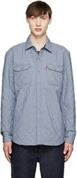Levi's Blue Reversible Quilted Shirt