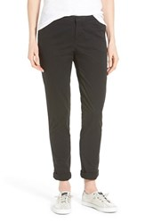 Petite Women's Caslon Chino Ankle Pants Black