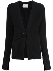 Jason Wu Metallic Detail Cardigan Black