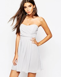 Tfnc Prom Dress In Pleated Chiffon Grey