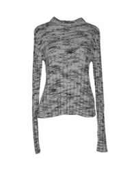 Le Mont St Michel Long Sleeve Sweaters Light Grey