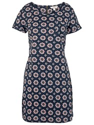 Fat Face Tenby Florence Geo Dress Navy