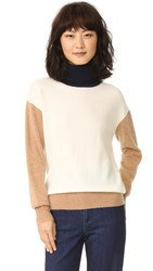 Demy Lee Jet Sweater White Navy Camel