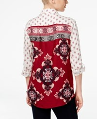 Styleandco. Style Co. Mixed Print Button Down Shirt Only At Macy's Diamond Dot