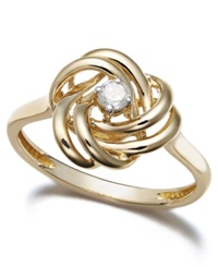 Wrapped In Love Diamond Ring 14K Gold Diamond Love Knot Ring 1 10 Ct. T.W.
