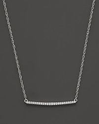 Bloomingdale's Diamond Bar Necklace In 14K White Gold .10 Ct. T.W.