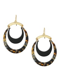 Trina Turk Multi Colored Oval Drop Earring Gold
