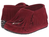 Manitobah Mukluks Paddle Suede Moccasin Vibram Rhubarb Women's Boots Red