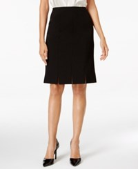 Kasper Petite Crepe Pleated Skirt Black