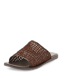 Kenneth Cole Prom Date Woven Slip On Sandal Brown