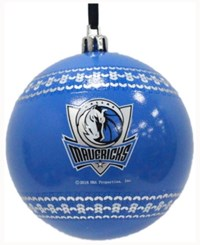 Memory Company Dallas Mavericks Ugly Sweater Ball Ornament Black
