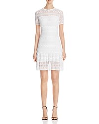 Elie Tahari Jacey Crochet Lace Dress Optic White