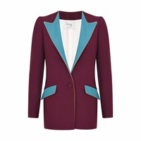 Hebe Studio The Suit Burgundy Boyfriend Blazer