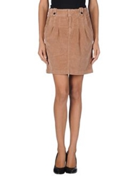 Timberland Mini Skirts Camel