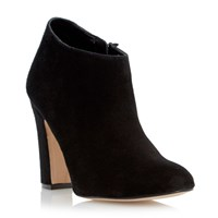 Dune Olyvia Dressy Heeled Ankle Boot Black Suede