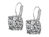 Kate Spade Small Square Leverbacks Silver Glitter Silver Earring