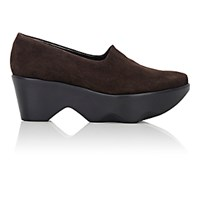 Robert Clergerie Women's Vander Platform Wedge Pumps Dark Brown