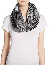 Calvin Klein Ombre Striped Infinity Scarf Black