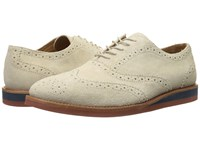 Polo Ralph Lauren Johnsly Cream Sport Suede Men's Lace Up Wing Tip Shoes Gray