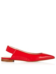Karen Millen Flat Slingback Shoes Red Red