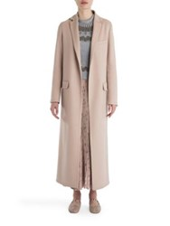 Valentino Long Wool And Cashmere Coat Skin