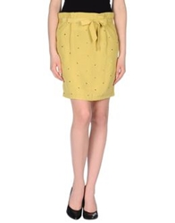 Beayukmui Knee Length Skirts Acid Green