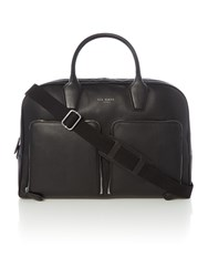 Ted Baker Printed Crosshatch Leaf Print Holdall Black