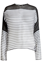 Anthony Vaccarello Striped Silk Blouse