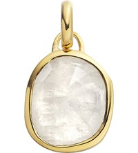 Monica Vinader Siren 18Ct Gold Plated Vermeil And Moonstone Pendant