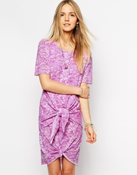 By Zoe Double Knot Detail Short Sleeve Dress Pink
