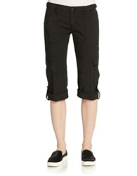 Sanctuary Cropped Roll Up Cargo Pants Black