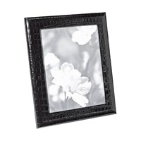 Graphic Image Leather Photo Frame Black Crocodile 8'X10