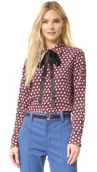 Marc Jacobs Button Down Shirt With Tie Multi
