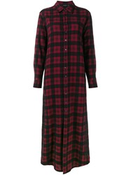 Etro Long Plaid Shirt Red
