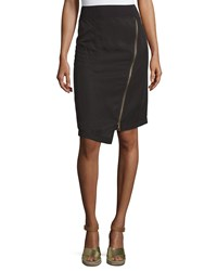 Xcvi Marie Asymmetric Zip Skirt Black