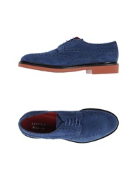 Doucal's Lace Up Shoes Blue