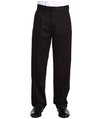 Dockers Signature Khaki D4 Relaxed Fit Pleated Black Men's Casual Pants